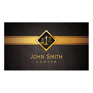 Advogado/advogado da escala do ouro de Professionl Cartão De Visita