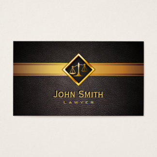 Advogado/advogado da escala do ouro de Professionl Cartão De Visitas