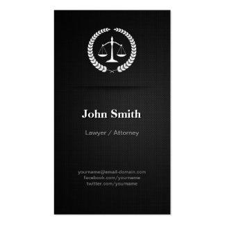 Advogado/advogado - preto elegante profissional cartão de visita
