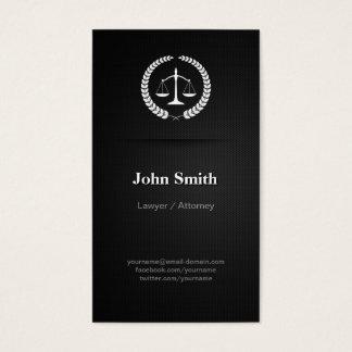 Advogado/advogado - preto elegante profissional cartão de visitas