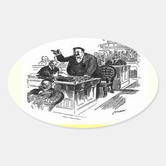 advogado adesivos oval