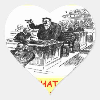 advogado adesivo de coração