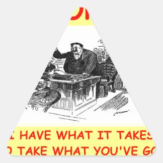advogado adesivo triângulo