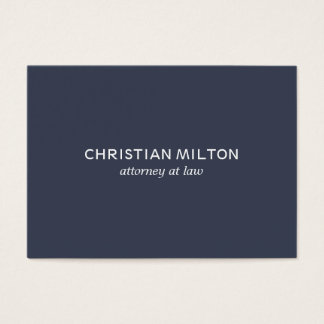 Advogado branco azul elegante simples mínimo na cartão de visitas