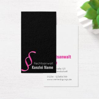 Advogado cartão de presentação