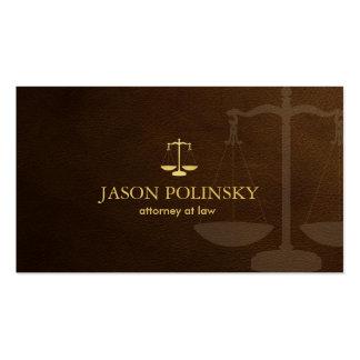 Advogado clássico cartão de visita