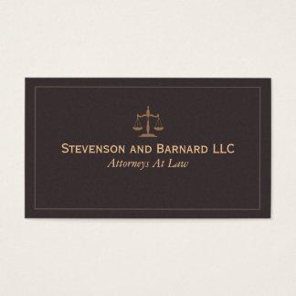 Advogado clássico, cartão de visita do advogado