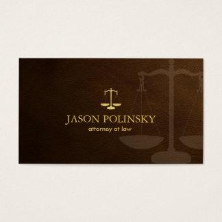 Advogado clássico cartão de visitas