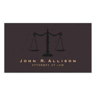 Advogado clássico do olhar da camurça de Brown da Cartão De Visita