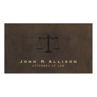 Advogado clássico do olhar do couro de Brown da Cartão De Visita