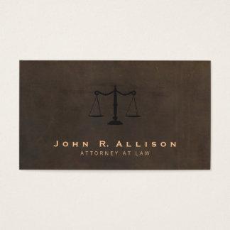 Advogado clássico do olhar do couro de Brown da Cartão De Visitas