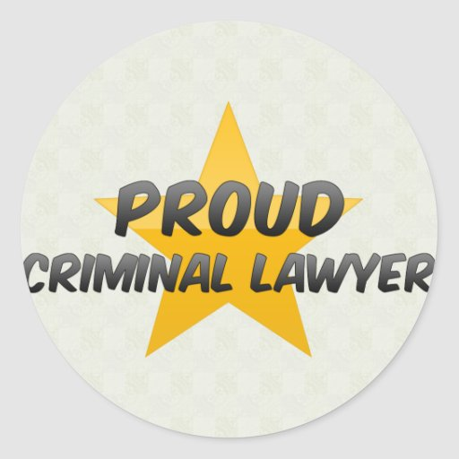 Advogado criminoso orgulhoso adesivo redondo
