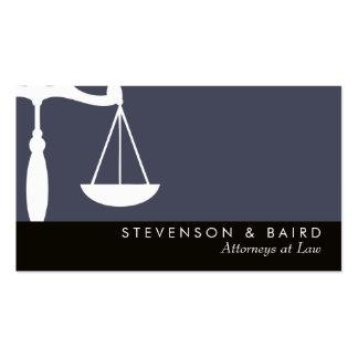 Advogado da escala de justiça na lei cartão de visita