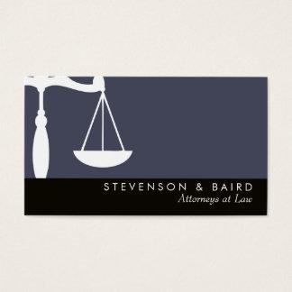 Advogado da escala de justiça na lei cartão de visitas