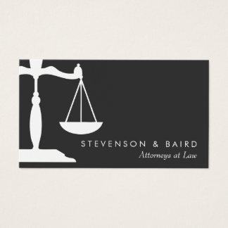 Advogado da escala de justiça preto e branco cartão de visitas