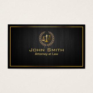 Advogado da escala do ouro/cartão de visita de cartão de visitas