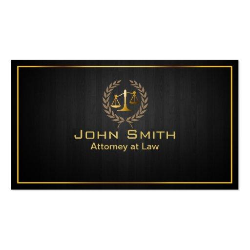 Advogado da escala do ouro/cartão de visita de mad