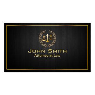 Advogado da escala do ouro/cartão de visita de mad cartão de visita