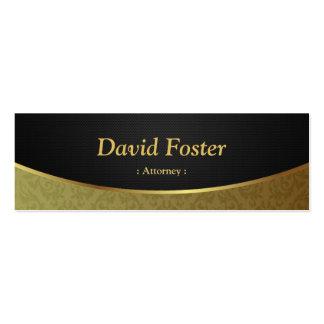Advogado - damasco preto do ouro cartão de visita skinny