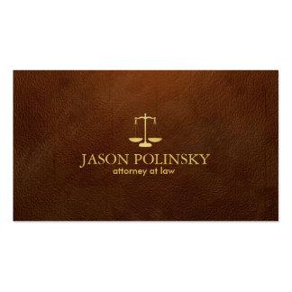 Advogado de couro elegante e moderno de Brown Modelos Cartões De Visitas