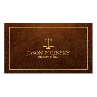Advogado de couro elegante e moderno de Brown Cartão De Visita