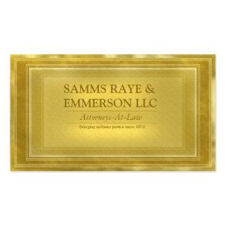 Advogado de escritórios da empresa de advocacia no cartão de visita