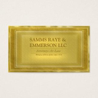 Advogado de escritórios da empresa de advocacia no cartão de visitas