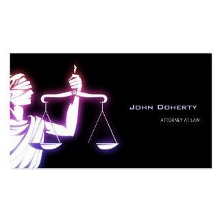 Advogado de incandescência colorido do símbolo | cartão de visita