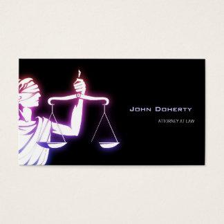Advogado de incandescência colorido do símbolo | cartão de visitas