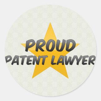 Advogado de patente orgulhoso adesivos em formato redondos