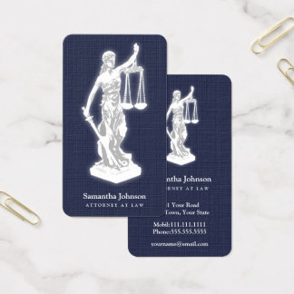 Advogado de Themis | no azul da meia-noite da lei Cartão De Visitas