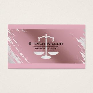 Advogado do metal cor-de-rosa da folha de ouro da cartão de visitas