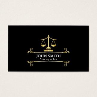 Advogado do profissional do Libra do ouro do falso Cartão De Visitas