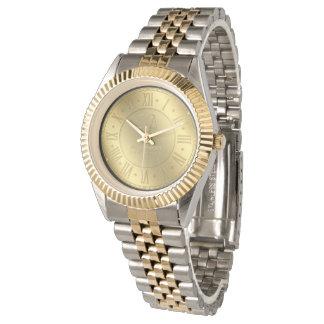 Advogado dourado das épocas   Personalizable na Relógios De Pulso