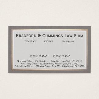 Advogado elegante da empresa de advocacia do cartão de visitas