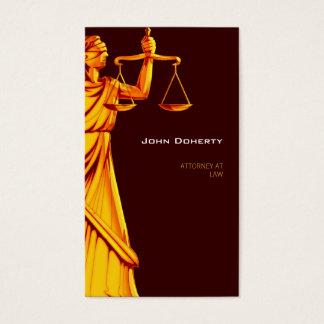 Advogado elegante de Themis | na lei Cartão De Visitas