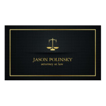 Advogado elegante do preto e do ouro na lei cartao de visita