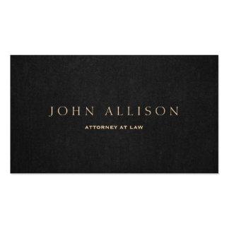 Advogado elegante escuro simples de Brown na lei Cartão De Visita