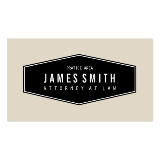 Advogado elegante retro alaranjado cinzento claro cartão de visita