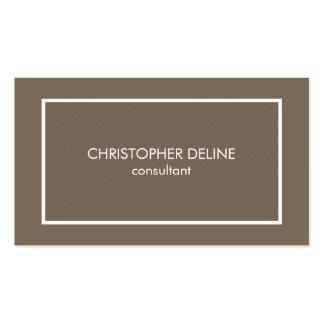 Advogado elegante simples moderno de Brown da Cartão De Visita