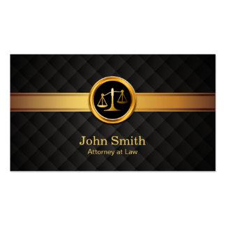 Advogado em advogado listrado do ouro profissional cartão de visita