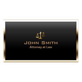 Advogado em moderno profissional da beira do ouro cartão de visita