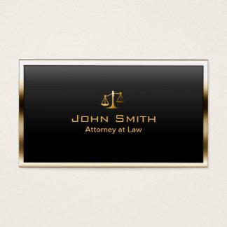 Advogado em moderno profissional da beira do ouro cartão de visitas