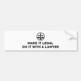Advogado engraçado adesivo para carro