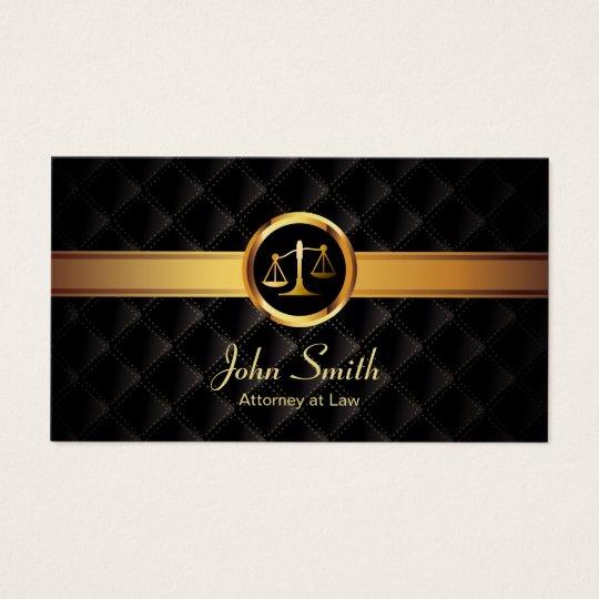 Advogado escuro luxuoso da listra do ouro do cartão de visitas