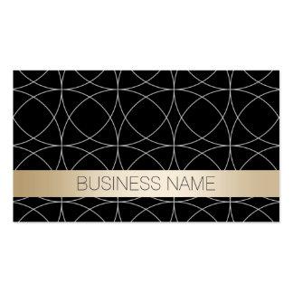 Advogado luxuoso do preto & do ouro cartão de visita