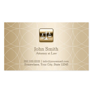 Advogado luxuoso dos padrões de Geo do ouro Cartão De Visita