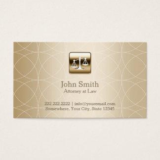 Advogado luxuoso dos padrões de Geo do ouro Cartão De Visitas