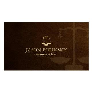 Advogado metálico clássico do ouro cartões de visita