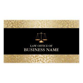 Advogado moderno da escala da lei da beira do cartão de visita